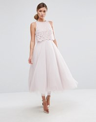Coast Astoria Lace Midi Dress Dusty Pink