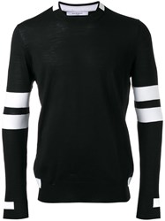 Givenchy Paneled Long Sleeve Jumper Black
