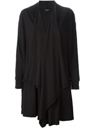 Zucca Draped Open Front Cardigan Black