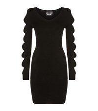 Boutique Moschino Bow Sleeve Jumper Dress Female Black