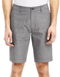 Kenneth Cole Slim Fit Micro Check Shorts Black Combo