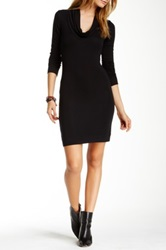 Go Couture Cowl Neck Sweater Dress Black