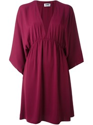 Sonia Rykiel By Knee Length Charmeuse Dress Red
