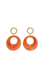 Lizzie Fortunato La Fonda Hoop Drop Earrings Brown