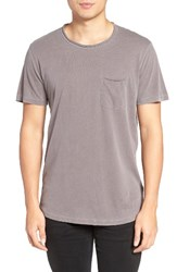 Velvet By Graham And Spencer Men's Raw Edge Pocket T Shirt Truffle