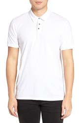 Velvet By Graham And Spencer Men's Bryant Jersey Polo White
