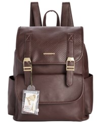 Rampage Customizable Perforated Flap Backpack With Pins Only At Macy's Wine