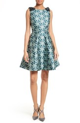 Ted Baker Women's London Sainte Kaleidoscope Faille Fit And Flare Dress