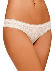 Kensie Lacy Matte Thong Ivory