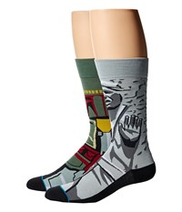 Stance Frozen Bounty Grey Men's Crew Cut Socks Shoes Gray
