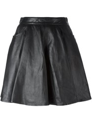 Jeremy Scott Leather Skirt Black