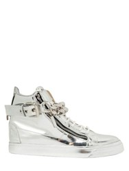 Giuseppe Zanotti Metal Chain Leather High Top Sneakers