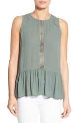 Women's Ro And De Drop Waist Lace Tank