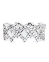 Diamonds Unleashed She'sbrilliant Diamond Empowerment Crown Ring Women's White