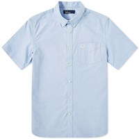 Fred Perry Short Sleeve Classic Oxford Shirt Blue