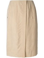 Celine Vintage High Waist Skirt Nude And Neutrals
