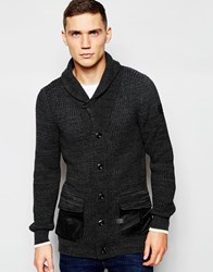 G Star G Star Shawl Knit Cardigan Filler In Black Rover Black