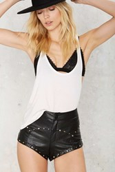 One Teaspoon Modern Love Studded Shorts Black