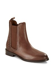 Liebeskind Leather Pull On Ankle Boots Brown
