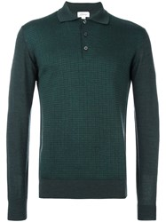 Brioni Longsleeved Polo Shirt Green