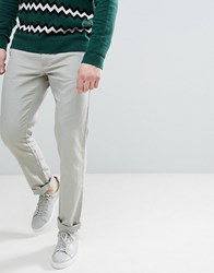 United Colors Of Benetton Slim Fit Linen Chinos In Stone Beige