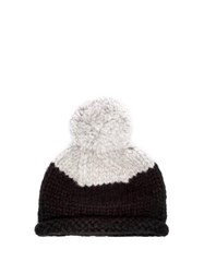 Lola Hats Snowball Alpaca Blend Beanie Hat Black