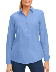 Foxcroft Casual Button Down Shirt French Blue