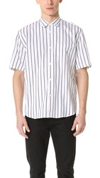 Our Legacy Initial Short Sleeve Stripe Shirt White