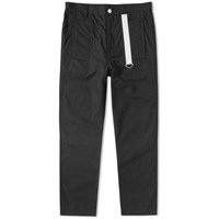 Helmut Lang Cropped Canvas Chino Black
