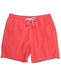 Hackett Red Solid Volley Swim Shorts