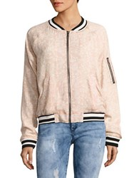 Sanctuary Floral Printed Bomber Jacket Cameo Pink
