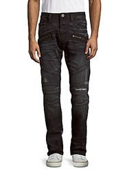 Cult Of Individuality Greaser Whiskered Straight Leg Jeans Eclipse