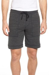 Alo Yoga Men's Revival Relaxed Knit Shorts Charcoal Black Triblend