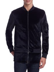 Madison Supply Zip Up Velvet Jacket Caviar