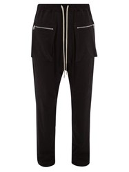 Rick Owens Drkshdw Dropped Seat Cotton Twill Trousers Black