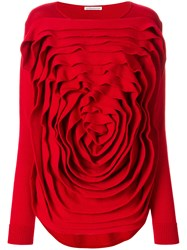 Stefano Mortari Layered Knitted Top Virgin Wool
