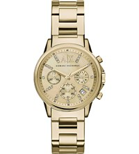 Armani Exchange Yellow Gold Bracelet Watch