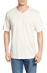 Tommy Bahama Men's Big And Tall Portside Player V Neck T Shirt Coconut