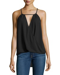 Single Dress Single Solid Tie Back Tank Black