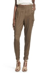 Women's Leith Roll Cuff Utility Pants Brown Acorn