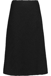 Raoul Amelia Textured Wool Blend Midi Skirt Black