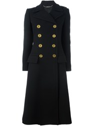 Alexander Mcqueen Double Breasted Coat Black