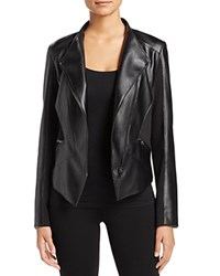 T Tahari Oriana Faux Leather Jacket Black