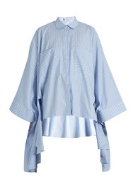 Palmer Harding Poet Patch Pocket Cotton Shirt Light Blue