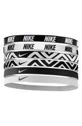 Nike Sport Headbands Black 6 Pack Black White