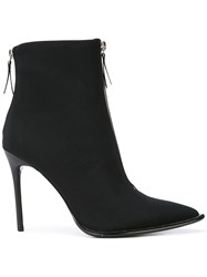 Alexander Wang Zip Front Ankle Boots Black