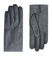Harrods Of London Cashmere Lined Leather Gloves Male Black