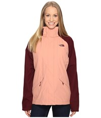 The North Face Boundary Triclimate Jacket Rose Dawn Deep Garnet Red Women's Coat Beige