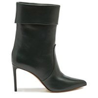 Francesco Russo Slouchy Leather Ankle Boots English Green