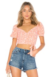 Blue Life Alice Wrap Top Pink